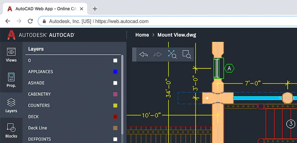 The AutoCAD web app is included when you subscribe to AutoCAD 2019, which offers access to specialized toolsets