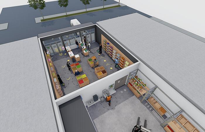 architecture design COVID-19 retail space