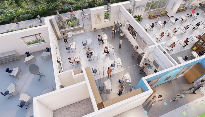 architecture design COVID-19 school